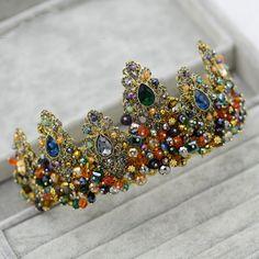 Cheap Fantastic Rhinestone cristal barrocas Tiara de la corona Headwear tocados de novia de noche accesorios para el cabello, Compro Calidad Joyas para Cabello directamente de los surtidores de China: