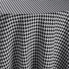 Black Houndstooth Table Linen   Rent Patterned Table Linens