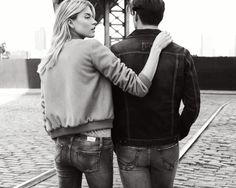 Roy Roger's Autumn Winter 2014-2015 campaign. Shot by photographer Philip Gay and featuring models Martha Hunt and Johannes Huebl