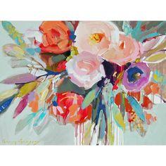 Abstract Kaleidoscope Bouquet Canvas II