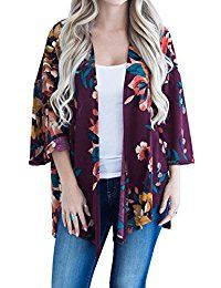 New Hibluco Women's Fashion Long Sleeve Floral Printed Open Cardigan Jacket Outwear online. Find the perfect Shymay Tops-Tees from top store. Sku ZVNB49303JBNP87564