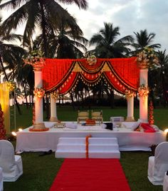 Marigold Mandap, wedding at The Leela Goa. Via www.ankit.in