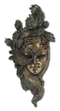 peacock wall mask