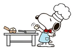 Snoopy as The World Famous Omelette Cook