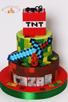 Tort Minecraft pentru Cezar