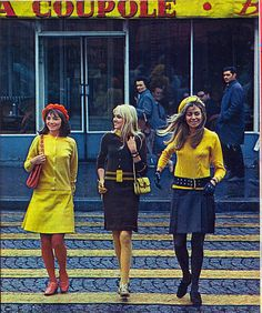If 1967 means everyone has to wear yellow accents, I'm so 1967