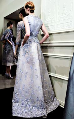 Backstage at Elie Saab Haute Couture Spring 2013