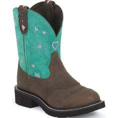 L9971 Women's Gypsy Western Justin Boots - Lagoon Blue