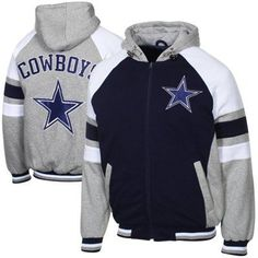 Dallas Cowboys Stripe Full Zip Hoodie