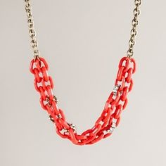 Women's new arrivals - jewelry - Resin and crystal link necklace - J.Crew - StyleSays