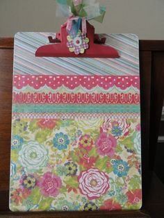 Pink And Lime Green Decorative Clipboard By Sherichic On 14 00