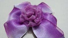 Accesorios  moños y flores para el cabello en cinta organza No.160 Manualidadeslahormiga