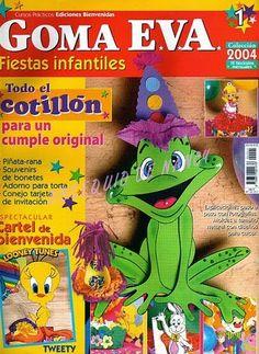 ideas para manualidades fiestas infantiles foamy