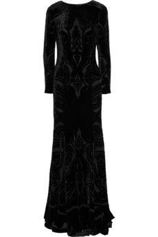 EtroDevore velvet gown, on Net-A-Porter