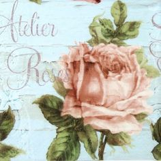 4 x Single Luxury Paper Napkins for Decoupage and Craft Vintage Atelier Des Rose