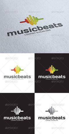 Music Beats Abstract Logo