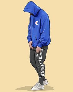 """15k Likes, 250 Comments - Swaggyfeed (@swaggyfeed) on Instagram: """"Would your wear this outfit? • Champion Hoodie • adidas Track Pants • adidas Powerphase Sneakers…"""""""
