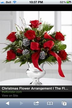 Christmas floral arrangements