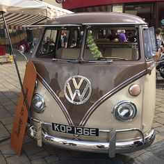 Split screen retro Kombi van + ice cream ... now that's a relationship that will last.  spotted by @kenjrock2345 in Carmarthen West Wales in the UK. _