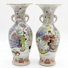 二つの 19世紀 の 日本 の 花瓶 19th Century Pair Of Japanese Vases