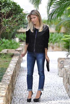 glam4you - nati vozza - fringe - jeans - cropped