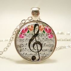 G-Clef Necklace, Music Note Jewelry (1053S1IN)