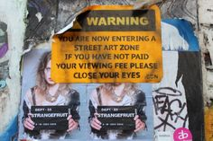 Street art zone London east end  Brick Lane