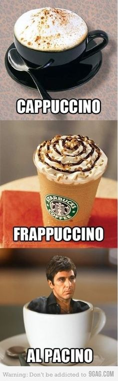 """""""Say hello to my caffeinated little friend."""" - Mr. Takei ... What about Tarantino? Or Maraschino? Or Jalapeno?"""