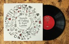 The Sounds of Making in East London. This is a 10 vinyl record capturing the sounds of 21 skilled, creative and historical East London makers at work. Sound Art, Hand Illustration, East London, Love Art, Vinyl Records, Design Inspiration, Creative, How To Make, Crafts