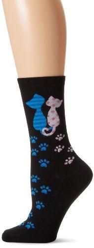 K. Bell Socks Women's Cat Love Crew Socks, Black, 9-11 K. Bell Socks http://www.amazon.com/dp/B00EVUR6LQ/ref=cm_sw_r_pi_dp_zlt6vb0XPJTB4