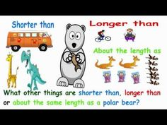 British Columbia Kindergarten Math A measurement song comparing the length of objects. It stars a polar bear. The song uses informal and formal units of measurement. Measurement Kindergarten, Kindergarten Math Activities, Math Measurement, Homeschool Math, Teaching Math, Measurement Activities, School Songs, Math School, School Videos