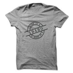 Made In Idaho Stamp Style Logo Symbol Black T Shirt, Hoodie, Sweatshirt