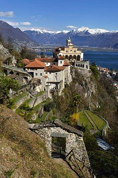 Orselina Locarno Tessin Sanctuary of the Madonna del Sasso or Our Lady of the Rock