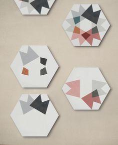 EnticDesigns's cement tiles designed by Mut design Ceramic Floor Tiles, Cement Tiles, Tile Floor, Bath Design, Tile Design, Woman Cave, Lady Cave, Flooring, Wallpaper