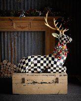 Mackenzie Childs MacKenzie-Childs Courtly Check Resting Deer