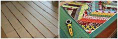 herringbone quilt tutorial QAYG kinda method / maureen cracknell