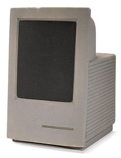 """Ca. 1989 Macintosh LC painted foam design prototype by the Apple Industrial Design Group. From the Bonham's """"20th Century"""" auction."""