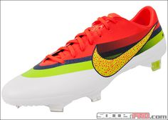 Nike Mercurial Vapor IX CR FG Soccer Cleats - White with Crimson...$206.99