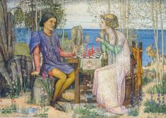 Ferdinand And Miranda (from The Tempest, Act V) by Edward Reginald Frampton