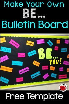 Inspire your students with this BE YOU bulletin board. It is great for looking at character traits and is an easy way to welcome students back to school. The FREE templates make this bulletin board quick yet eye-catching. Ideal for elementary school, middle school, or high school! A back to school bulletin board that can be adjusted to fit any size bulletin board or classroom door. #backtoschool #bulletinboard #charactertraits School Welcome Bulletin Boards, Easy Bulletin Boards, Elementary Bulletin Boards, Welcome Back To School, Elementary Schools, School Classroom, Classroom Door, Classroom Freebies, School Office
