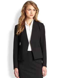 Theory Cropped Open Front Blazer in Black - $355