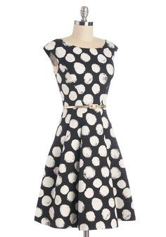 Beyond a Shadow of a Dot Dress | Mod Retro Vintage Dresses | ModCloth.com