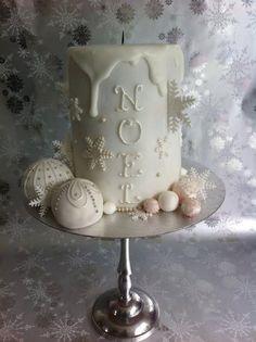 Christmas Candle Cake Cake by cakeybakey