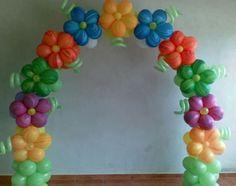 Flower balloon Arch