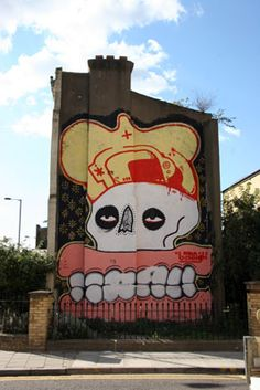 sweet toof x cyclops x sickboy Graffiti, Best Street Art, Cyclops, London Street, 2d Art, Street Artists, Art School, Sculptures, Museum