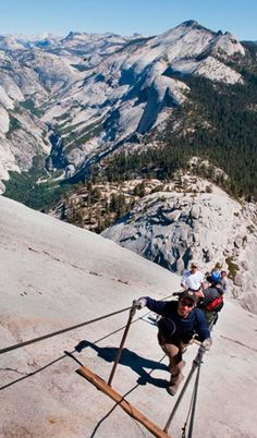 Yosemite Grand Traverse California --We did this years ago.  It was amazing and kinda scary!