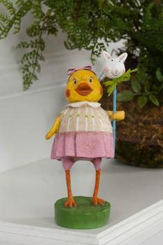 Lori Mitchell Penelopeep. Easter figurine.