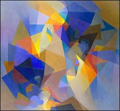 Stanton Macdonald-Wright RAIGO 1955 (A later abstract painting in the Synchromist spirit).