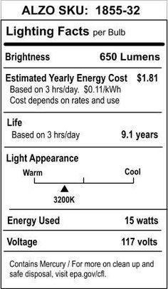 Alzo 15w Cfl Video Lux Photo Light Bulb 3200k 750 Lumens 120v Photo Lighting Light Bulb Fluorescent Light Bulb
