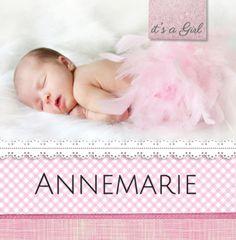 Annemarie Foto, lief, roze, ruitjes, kant , meisje
